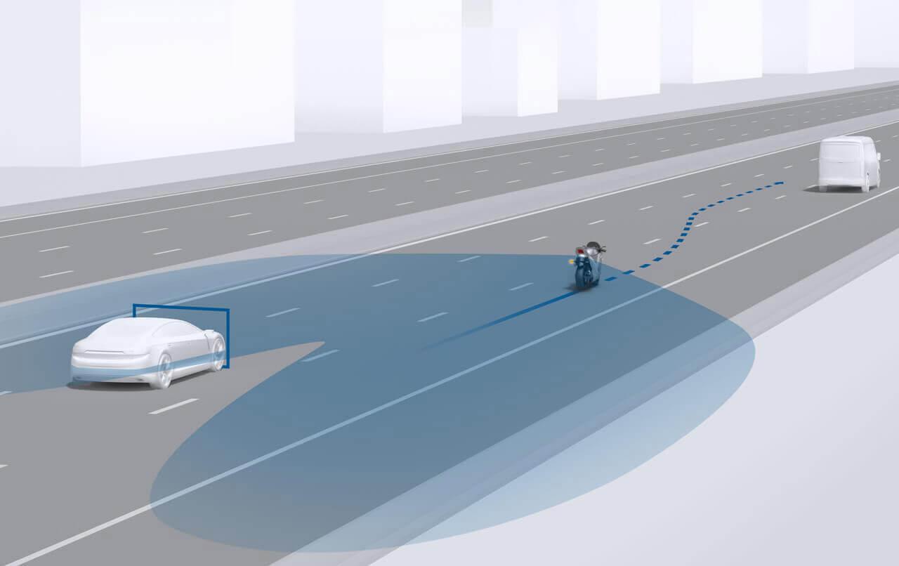 A holttérfigyelő is a hosszabb túrák során lehet segítségére a motorosoknak