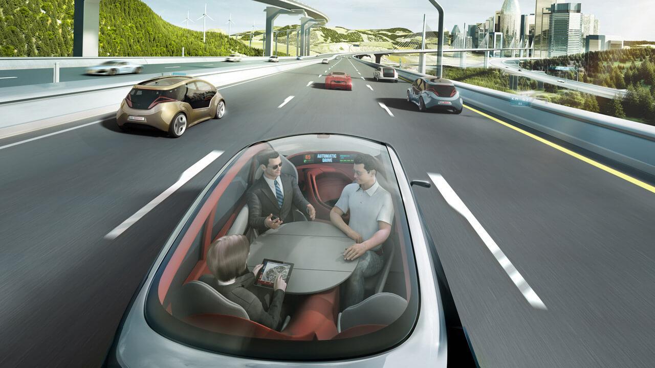Jellemző kép a jövő önvezető autójából, az ülések minden bizonnyal elforgathatók lesznek
