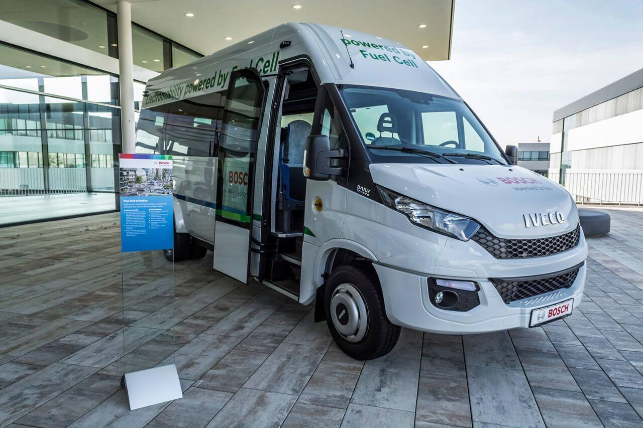 A Bosch minden méretben fejleszt üzemanyagcellás hajtáláncokat